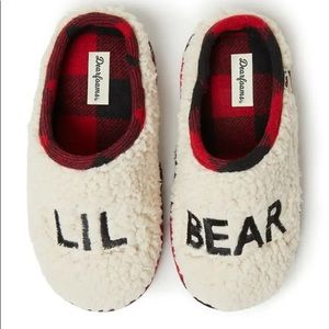 🆕 Dearfoams Lil Bear Kids Sherpa Clog Slipper